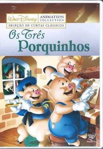 dvd - os três porquinhos - walt disney - original frete 10