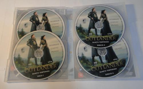 dvd - outlander 4ª temporada completa - dublado e legendado