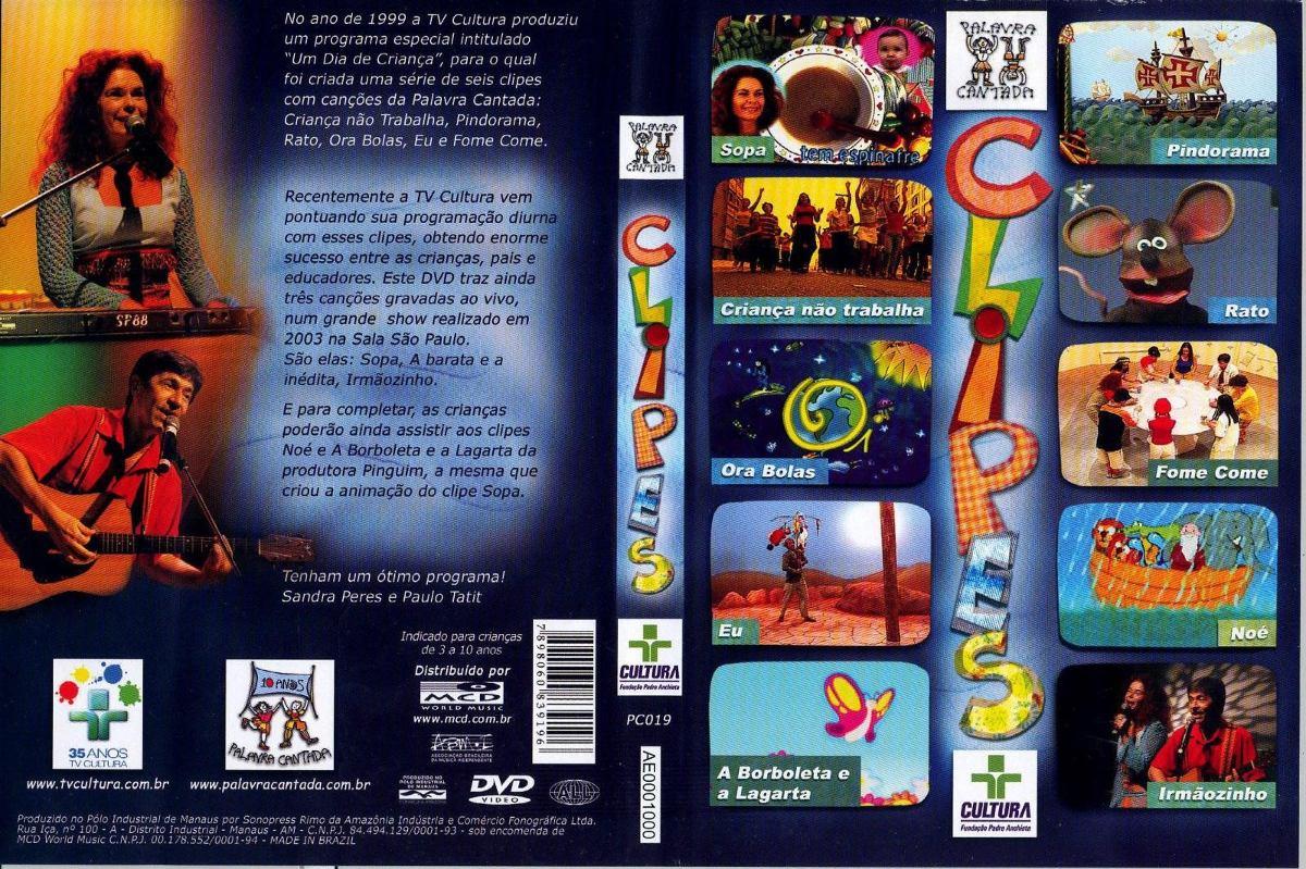 dvd palavra cantada clipes tv cultura