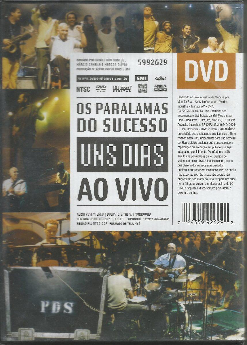 dvd os paralamas do sucesso uns dias