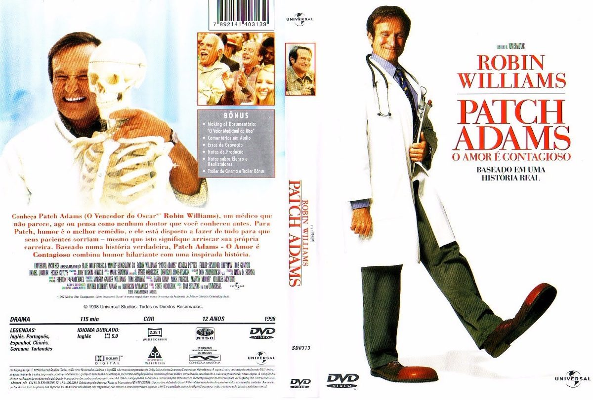 Dvd Patch Adams O Amor é Contagioso Original Raro R 8000