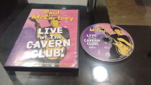 dvd paul mccartney live at the cavern club en formato dvd