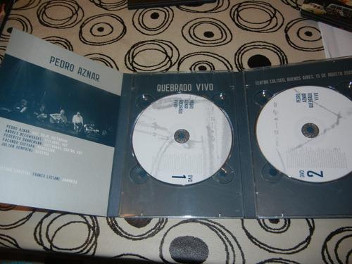 dvd-pedro aznar-quebrado vivo-doble