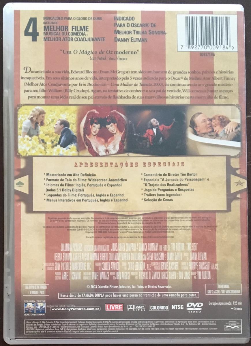 ee2398785 Dvd Peixe Grande E Suas Histórias Maravilhosas - Original!!! - R$ 9 ...