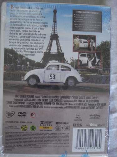 Dvd Pelicula Disney Cupido Motorizado Enamorado / Herbie