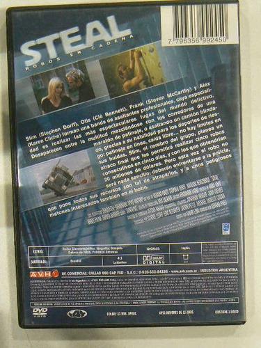 dvd pelicula steal robos en cadena usado en la plata