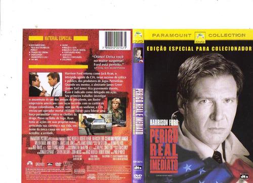 dvd perigo real e imediato, harrison ford - original