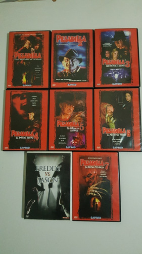 dvd pesadilla coleccion / nightmare on elm street / 8 discos