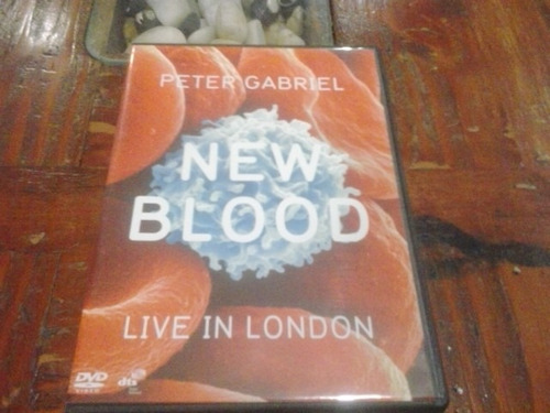 dvd peter gabriel live in london new blood nuevo
