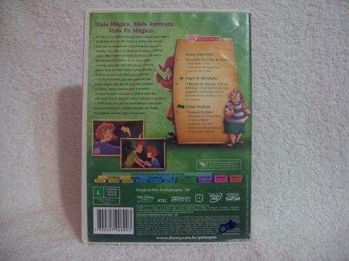 dvd peter pan- de volta a terra do nunca- edição supermágica