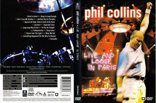 dvd phil collins - live and loose in paris