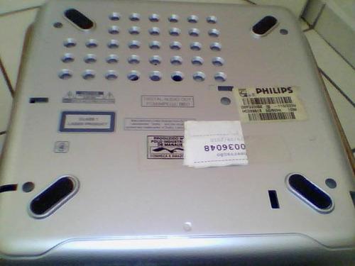 dvd philips 320 bk branco e prata + brindes