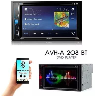 dvd pioneer avh-208bt bluetoot 2din multimidia - somtel664