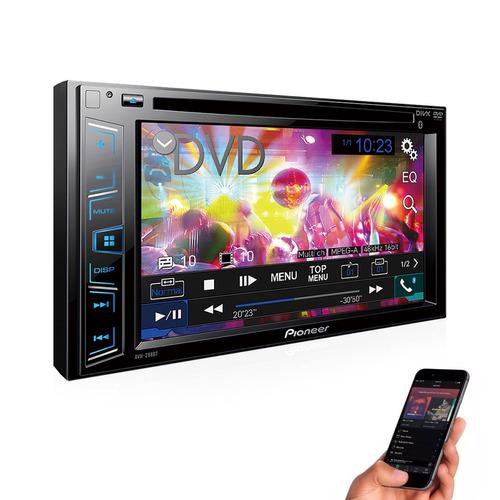 dvd pioneer avh-298bt 2 din + camera de re + moldura civic