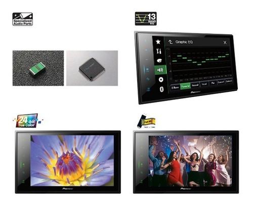 dvd pioneer pantalla 8  reproductor multimedia