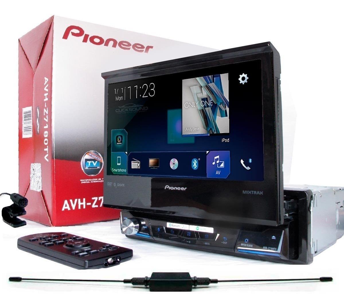Dvd Pioneer Retratil Avh-z7180tv Spotify Waze Usb Bluetooth