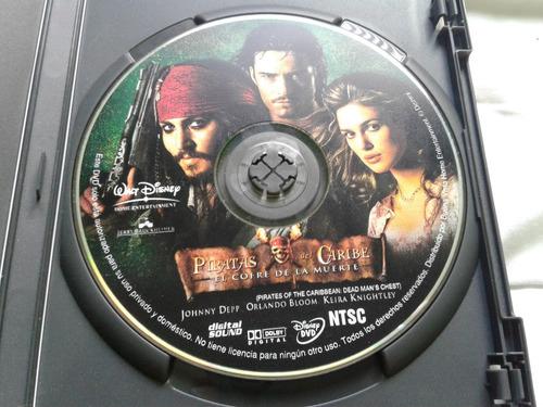 dvd piratas del caribe 1 y 2