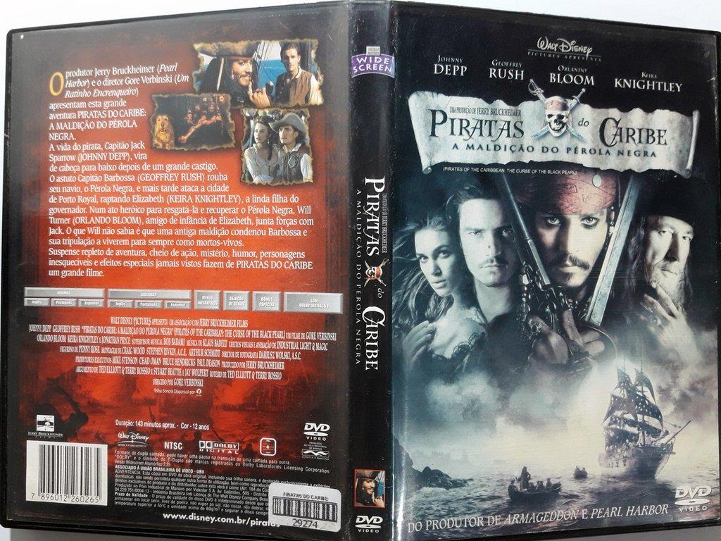 Dvd Piratas Do Caribe A Maldicao Do Perola Negra Johnny Depp R