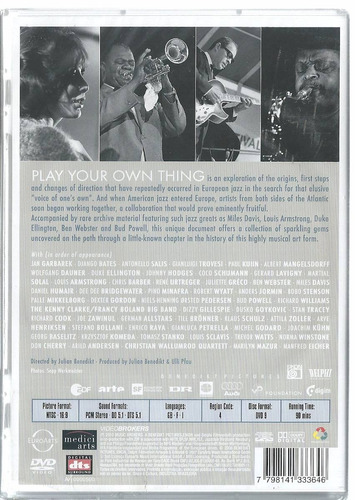 dvd play your own thing a story of jazz in europe (lacrado)