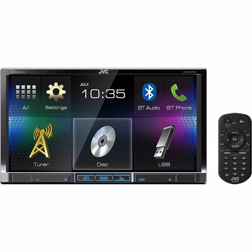 dvd player automotivo jvc kw-v41bt tela 6,9  usb