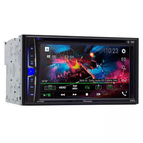 dvd player automotivo pioneer 2 din avha208bt 6 pol usb aux