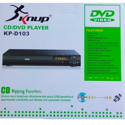 dvd player com karaokê player