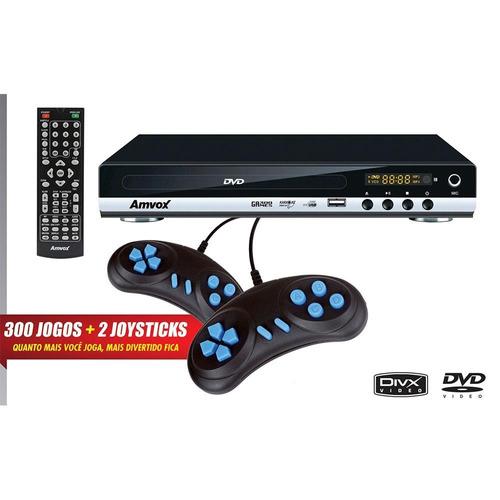 dvd player game amd-910 usb c/jogo - amvox