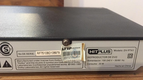 dvd player hitplus dv p741