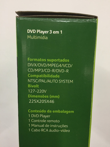 dvd player multilaser