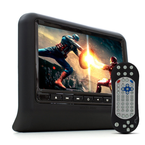 dvd player multilaser para encosto de cabeça au705 - preto,