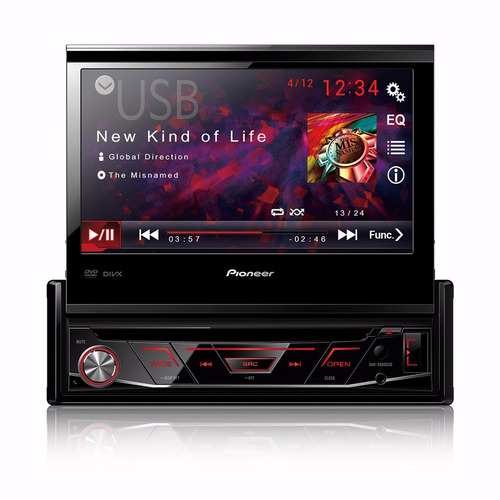 dvd player retratil 1 din pioneer avh-3880dvd
