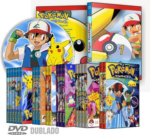 dvd pokemon 1ª a 10ª temporadas