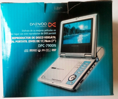 dvd portatil daewoo 7 pulgadas dpc-7900n, usado