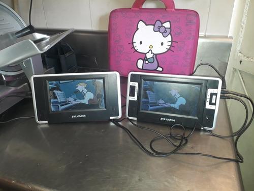 dvd portatil doble pantalla sylvania (50 verdes)