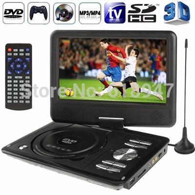 dvd portatil evd 7  microsd game usb fm mp3