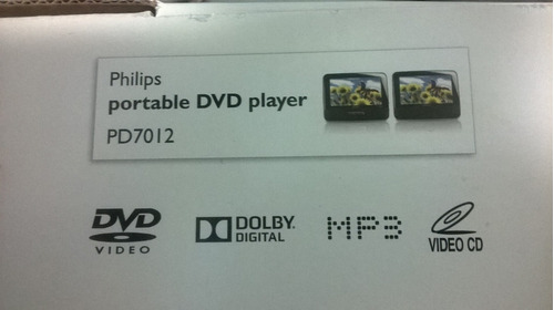 dvd portatil para carro y/o casa philips