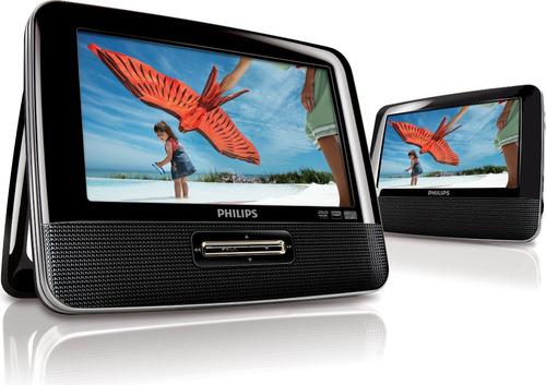 dvd portatil philips doble pantalla 7  para carro