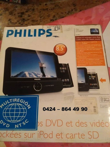 dvd portatil phillips pantalla 8.5  mod. dcp 851/37