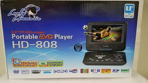 dvd portátil player evd hd-808 8.8 p