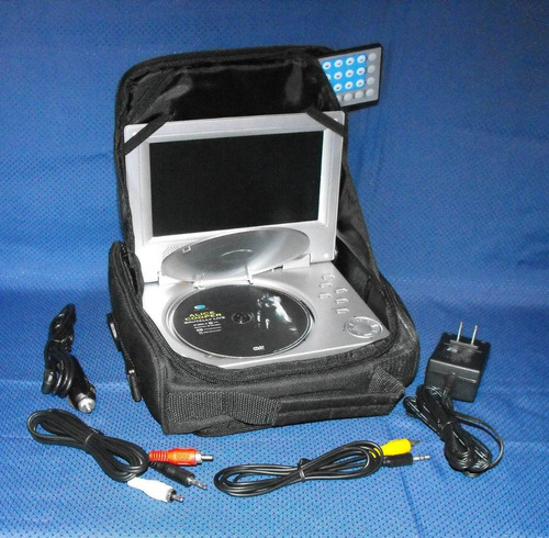 dvd portatil spectroniq c bateria y control remoto 60 verdes