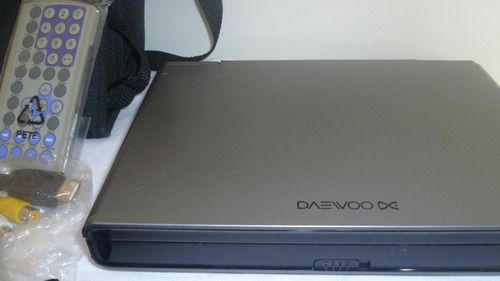 dvd portatil tv tuner daewoo maletin respaldar carro.