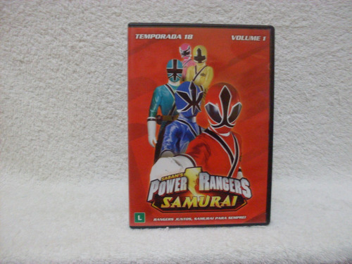 dvd power rangers samurai- temporada 18- volume 1