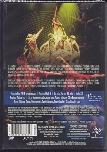 dvd profetas da dança - a dança e o criador