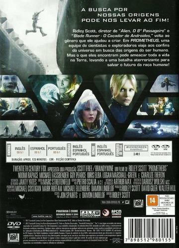 dvd prometheus - direção de ridley scott