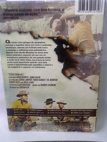 dvd quadrilha do inferno - com luva - lacrado de fábrica