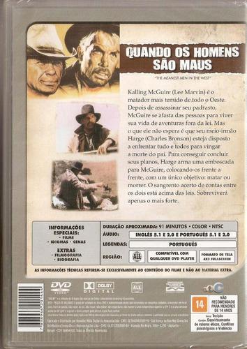 dvd quando os homens são maus - charles bronson / lee marvin
