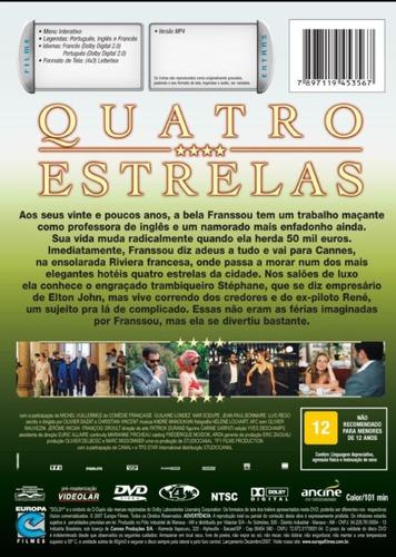 dvd - quatro estrelas - ( quatre étoiles ) christian vincent