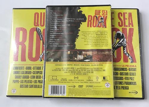 dvd que sea rock  la pelicula   nuevo sellado original