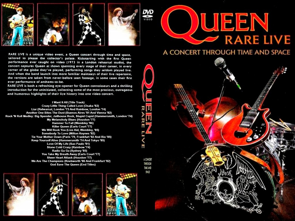 Dvd Queen - Rare Live A Concert Through Time And Space