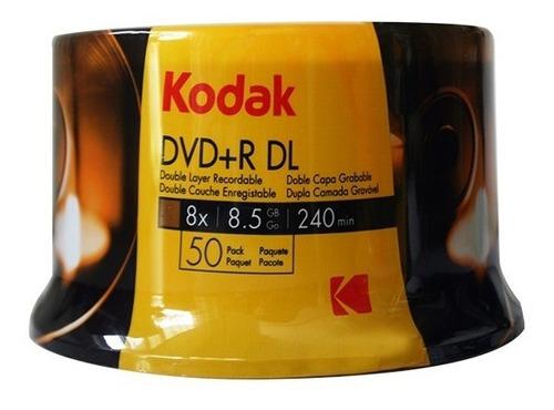 dvd + r doble capa kodak 8.5gb 8x - unidad a $1258